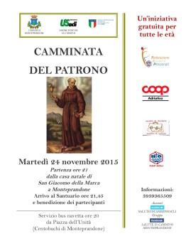 CAMMINATADEL PATRONO S.Giacomo2015