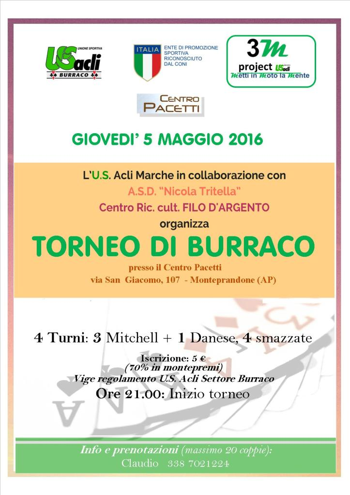 torneo di burraco 5 05 2016