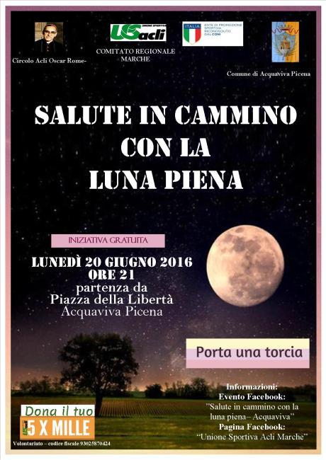 Salute in Cammino con la Luna piena 20062016