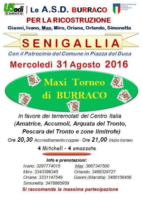 locandina beneficenza senigallia 31-8-16
