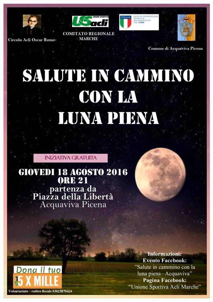Salute in Cammino con la Luna piena 18082016