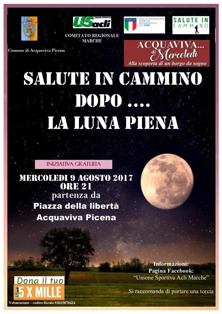Salute in Cammino con la Luna piena 09082017