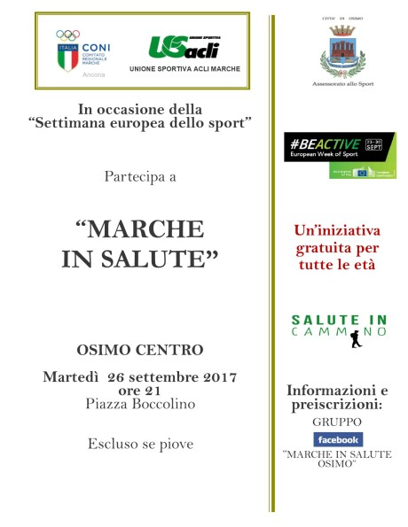 settembre Marche in Salute Osimo 26092017