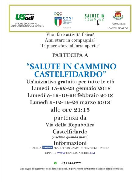 volantino camminate Castelfidardo gen feb mar 2018