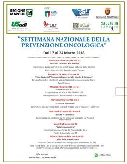 settimana della prevenzione oncologicabozzafinale