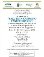 volantino camminate Castelfidardo apr mag giu 2018