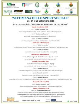 settimana sport sociale 2018