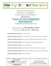 volantino camminate Macerata settembre 2018