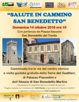 salute in cammino san benedetto 14102018