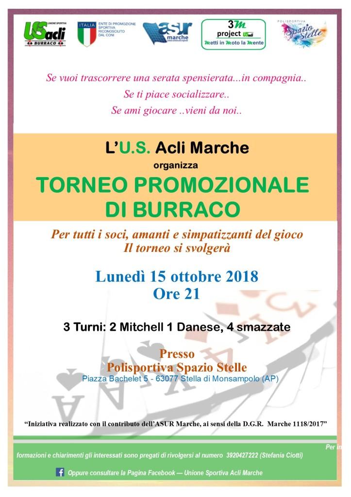 TORNEO burraco Stella 15 ottobre 2018