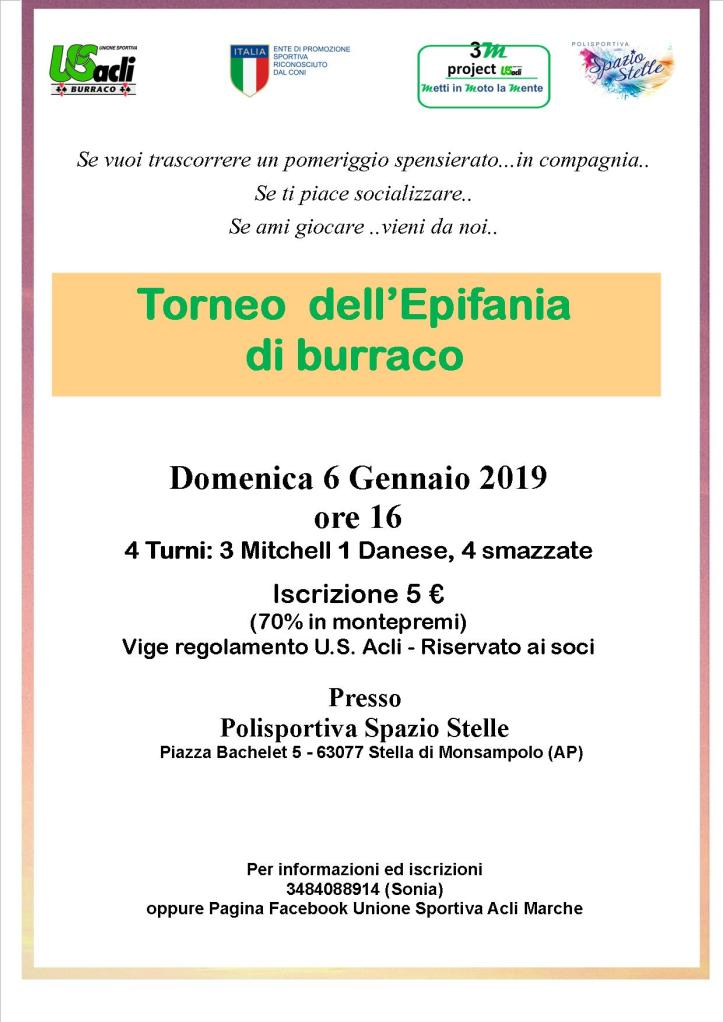 TORNEO burraco Stella 06012019