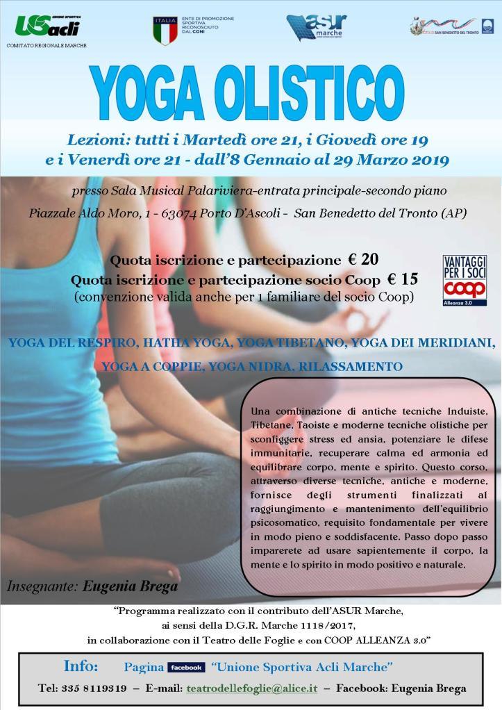 yoga martedi giovedi venerdi 2019