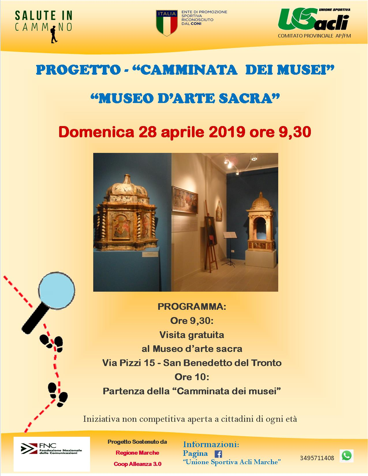 CAMMINATA DEI MUSEI 28.04.2019